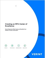 Creating an RPA Center of Excellence, Robotic Process Automation whitepaper